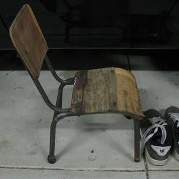 an old kids school chair