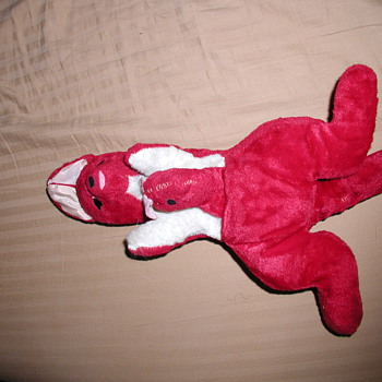 Red Stuffed Kangaroo with Baby Roo in Pouch