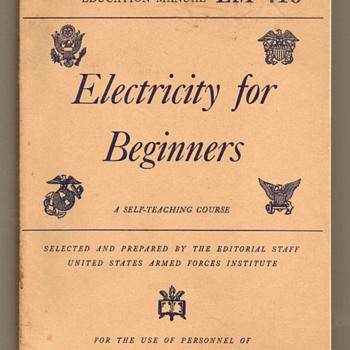 US Military Education Manual - Electricity - Books