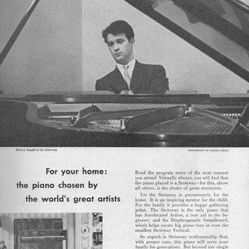 1951 - Steinway &quot;Pianino&quot; Advertisement