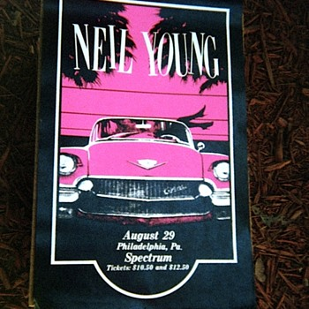 neil young poster  august 29 at the sprectrum philadelphia pa
