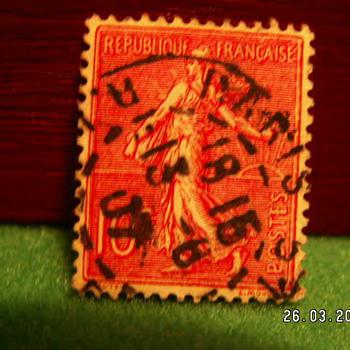 Vintage Republique Francaise 10c Stamp ~ Used