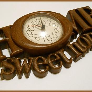 "1978 Wall Clock -  ""Home Sweet Home "" ( Burwood Products, USA )  - Clocks"
