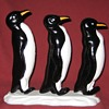 Cast Iron Waddle Of Penguins Doorstop