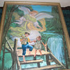 Angel and children litho