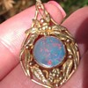 Gold Art and Craft Opal Pendant