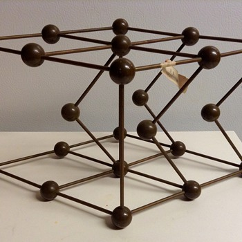Mid Century Metaloglass, Inc. Sculptural Molecular Model of Magnesium