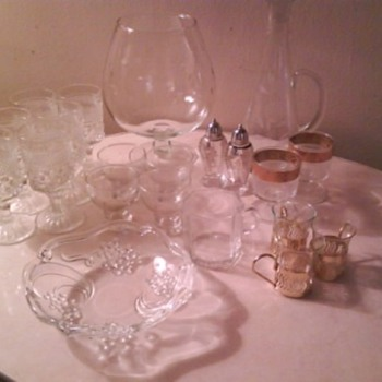 Vintage Glassware (additional closeups &amp; info enclosed)