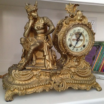 Any idea what this figural clock is? - Clocks