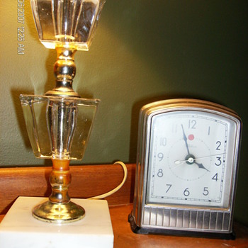 Art Deco Lamp & Clock