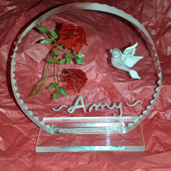 Engraved Plexiglas Plaque