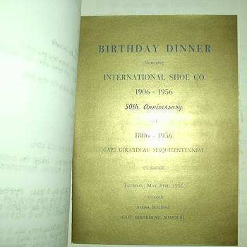 International Shoe Co. SESQUICENTENNIAL - Paper