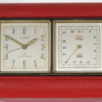 Clinton Swiss Travel Alarm Calendar Clock