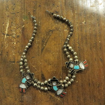 Native American Zuni silver necklace