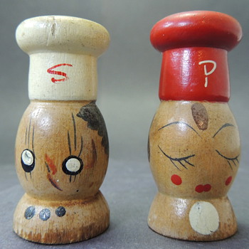 Handmade Wooden Salt and Pepper Shakers - Kitchen