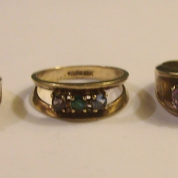Vintage 10k Ladies Rings With Various Stones - Fine Jewelry