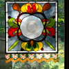 Depression Glass Plate Stained Glass Panel