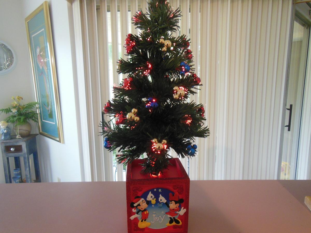 "Disney Fiber Optic 17"" Christmas Tree"