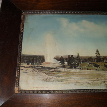 Mahogony framed photo of old faith inn Made be Haynes  from the yr 1910