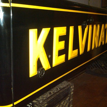 1950's Kelvinator 2-sided neon, by:Art Kraft OH rescued from the rafters! - Signs