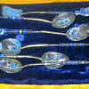 Hand Crafted enamel painted Silver Spoons