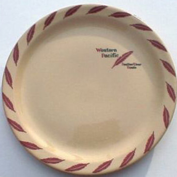 Western Pacific Feather Pattern Plate