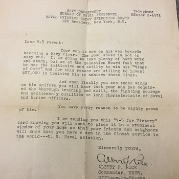 Letter to my grandparents  - Military and Wartime