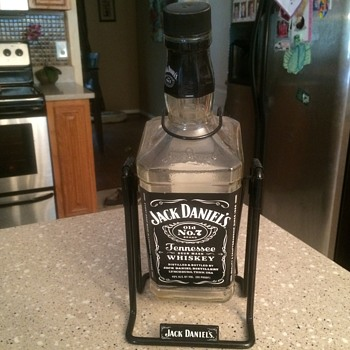 Jack Daniels bottle and bottle holder - Bottles