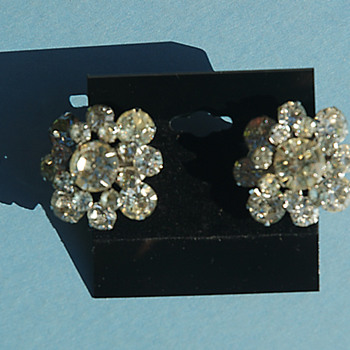 Bold and Beautiful crystal rhinestone clip on earrings