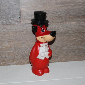 Huckleberry Hound Bank in Red! - Toys