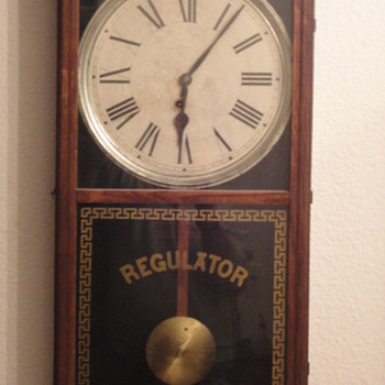 E Ingraham Wall Regulator Pendulum Clock - Clocks