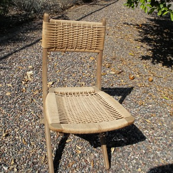 collapsible deck chair made in Yugoslavia