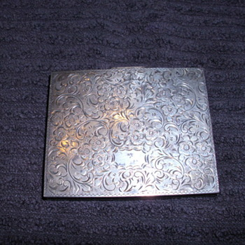 STERLING SILVER COMPACT CASE 985