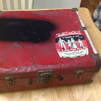 vintage roller skating case military germany