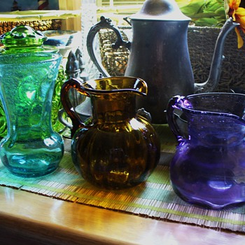 Variety of Colored Glass Vases - Glassware
