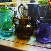 Variety of Colored Glass Vases