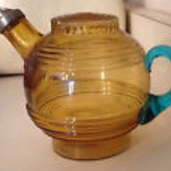 Mystery Vintage Glass Kettle or Teapot - Who made it?