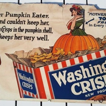 Early 1900's Washington Crisps Cereal Advertisement