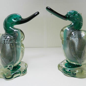 c.1938 Barbini VAMSA Bullicante Ducks - Italian Murano Art Glass