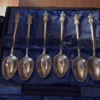 6 of the 12 Disciples spoons.(I think sugar spoons)