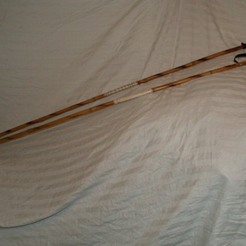 Antique Miller Bamboo Ski Poles - Outdoor Sports