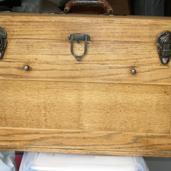 Grandfather's Oak Machinist Tool Box - Tools and Hardware