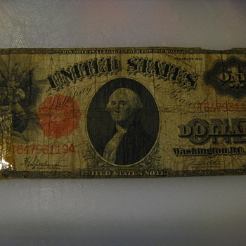 1917 One Dollar Note
