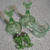 GREEN GLASSWARE  JEANETTE ?