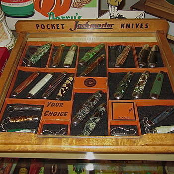 1940s/50s era Imperial Jackmaster knife Countertop display case - Tools and Hardware