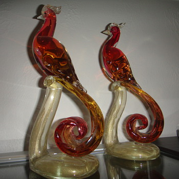 Alfredo Barbini Birds of Paradise - Art Glass