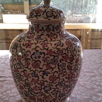 Vintage Floral Urn