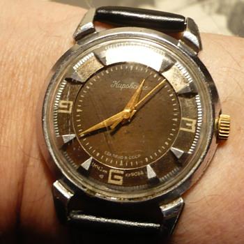 Soviet brutalist 1950s Kirovski 'Crab' Wristwatch