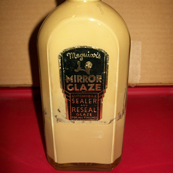 Meguiars mirror glaze glass bottle