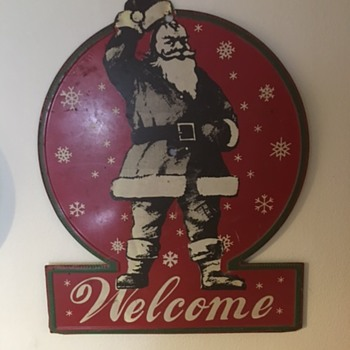 old santa coke sign